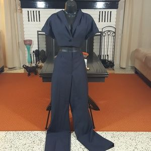 H & M Cropped Jacket and Pants suit